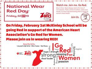 Wear Red Day Flyer