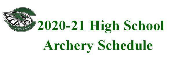 2020-21 Archery Schedule