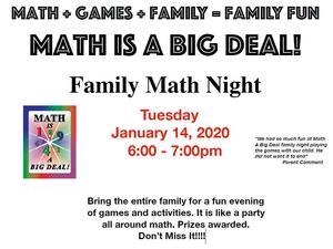 Math is a Big Deal flyer