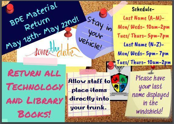 BPE Material Return! May 18th- May 22nd Featured Photo