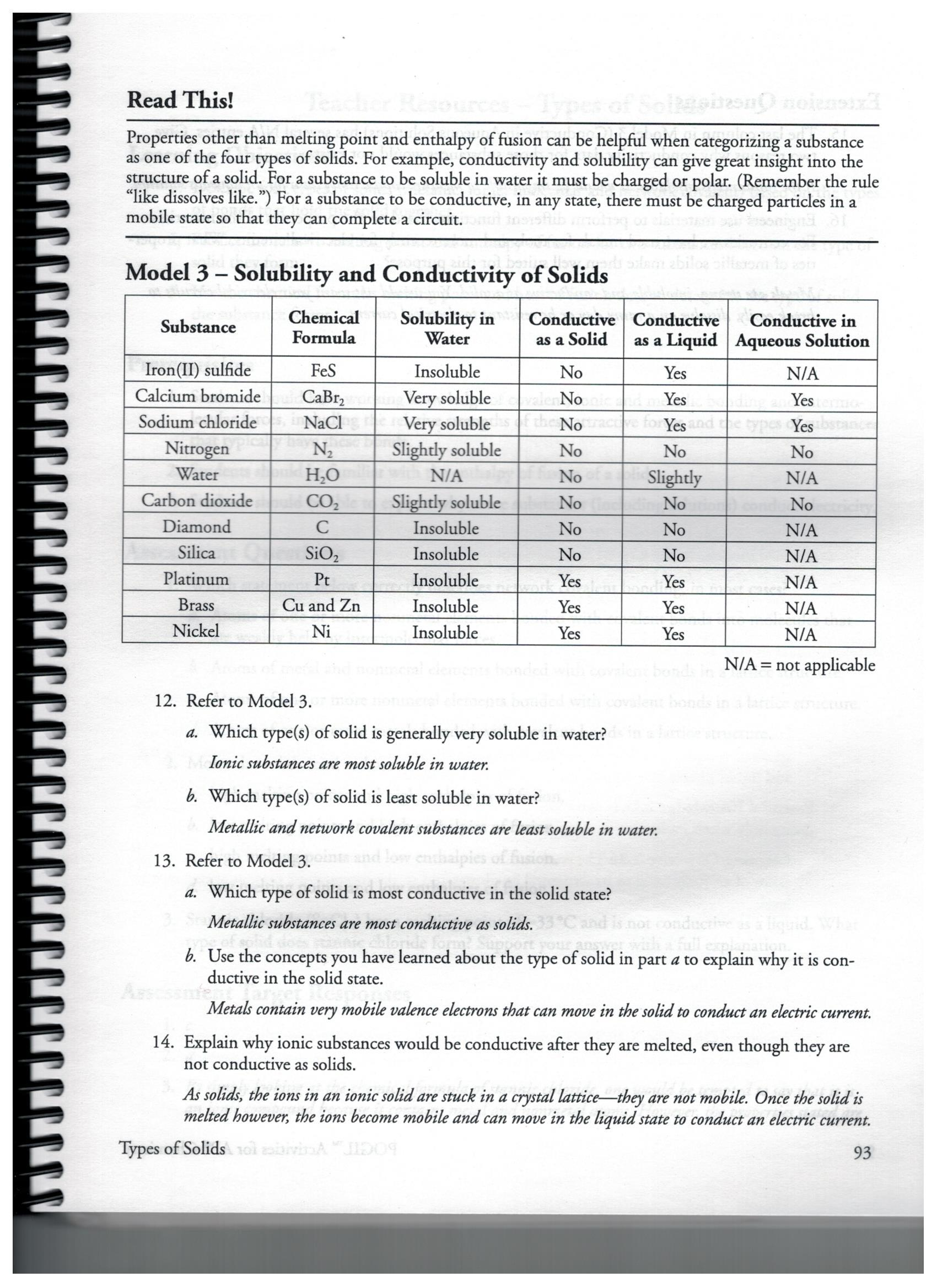 Pogil Types Of Chemical Reactions Answer Key + My PDF ...