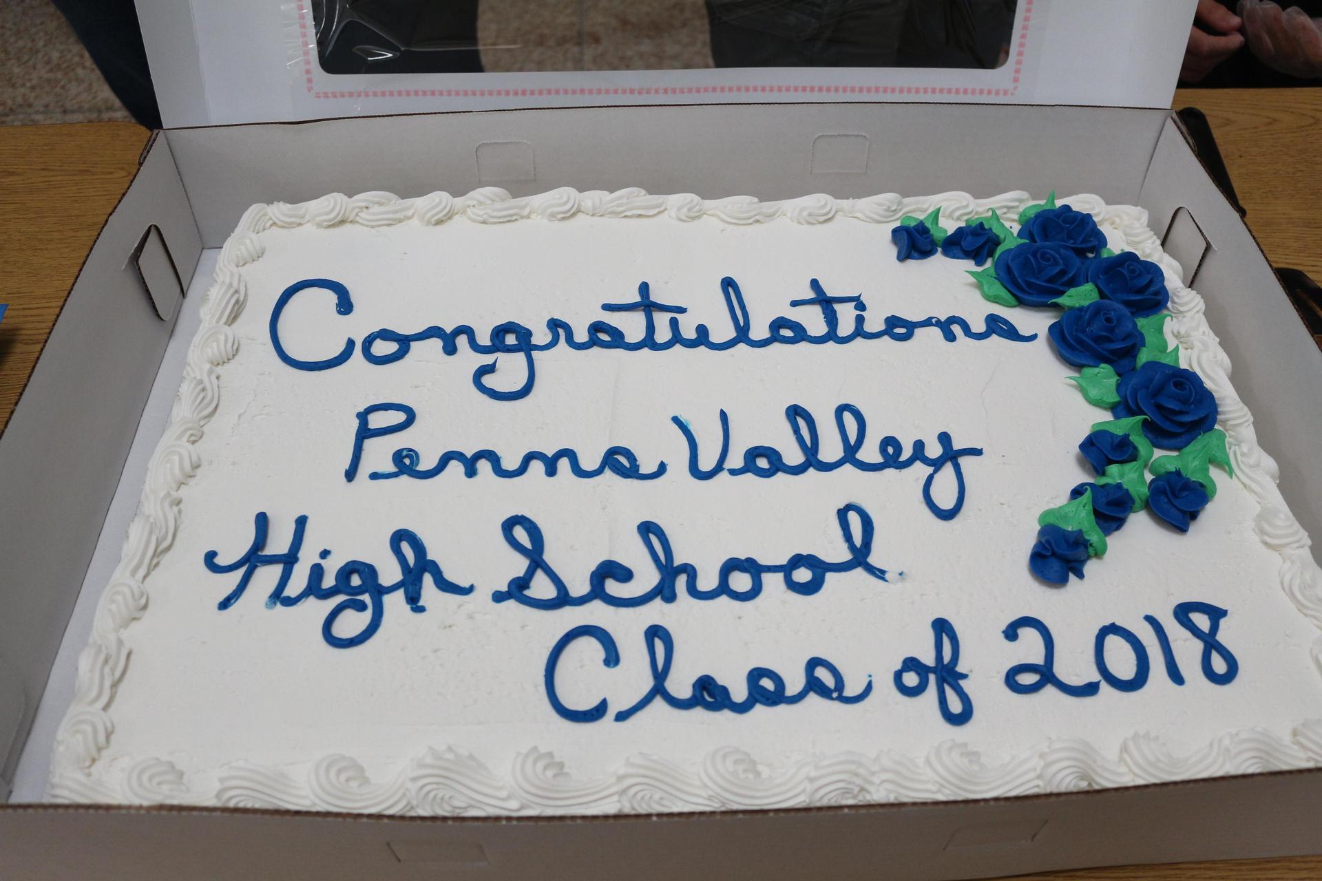 class of 2018 congratulations cake