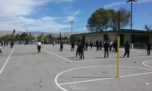 Children playing at recess.
