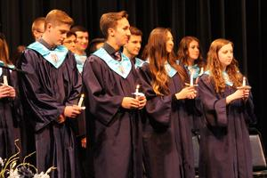 Current NHS members welcome 21 new inductees.