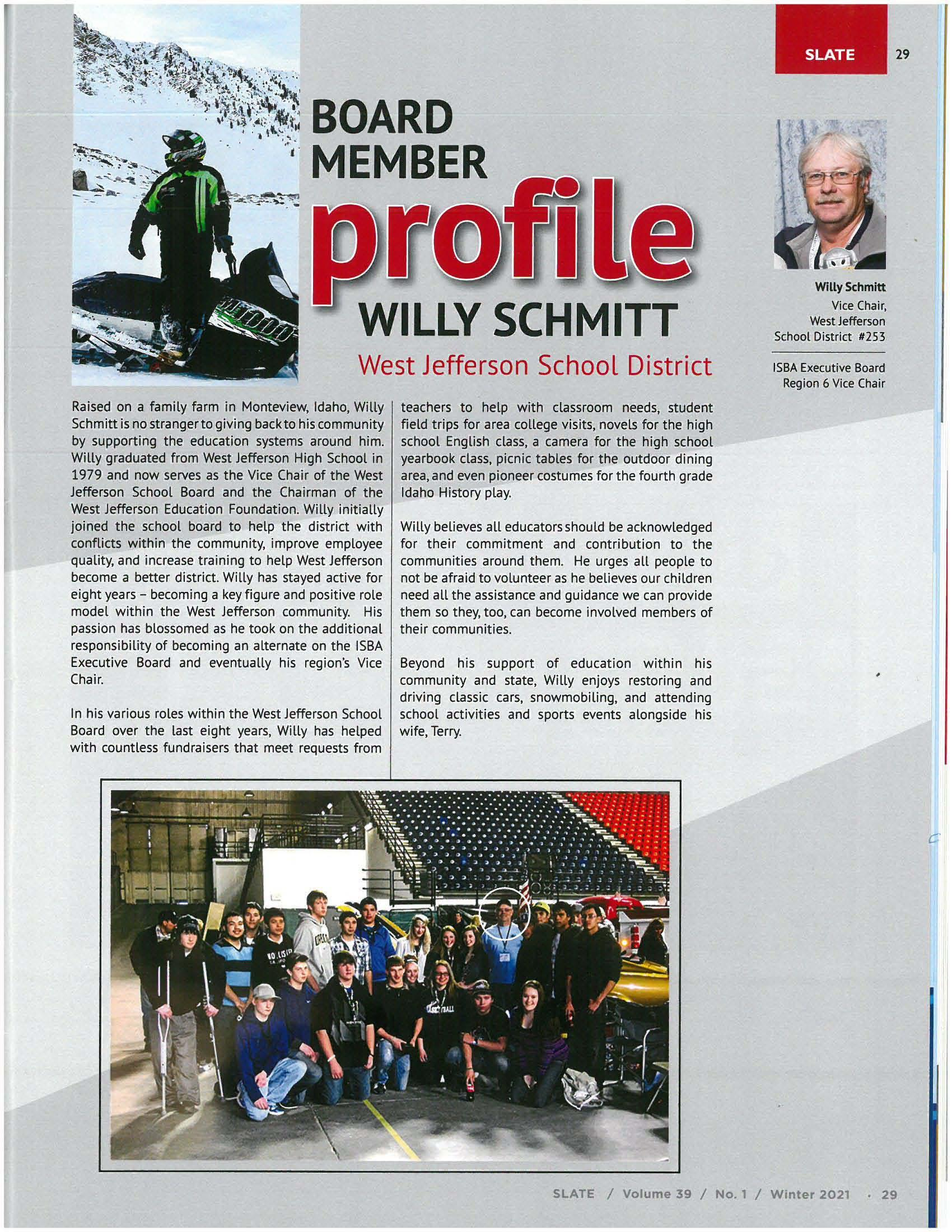 Willy's Magazine Article