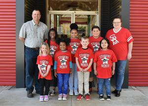 Elementary March students of the month