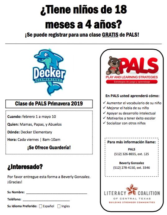 Spanish version of flyer