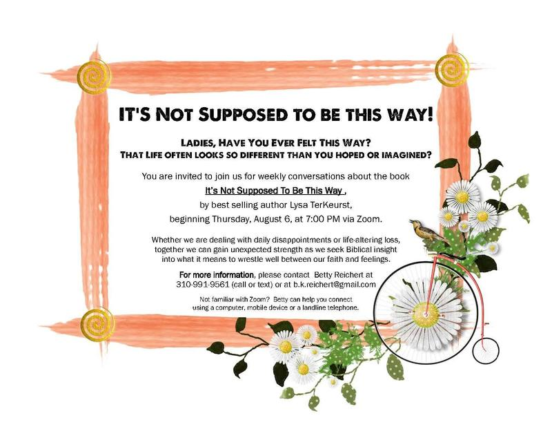 Women's Bible Study Via Zoom Starts Aug. 6 Featured Photo
