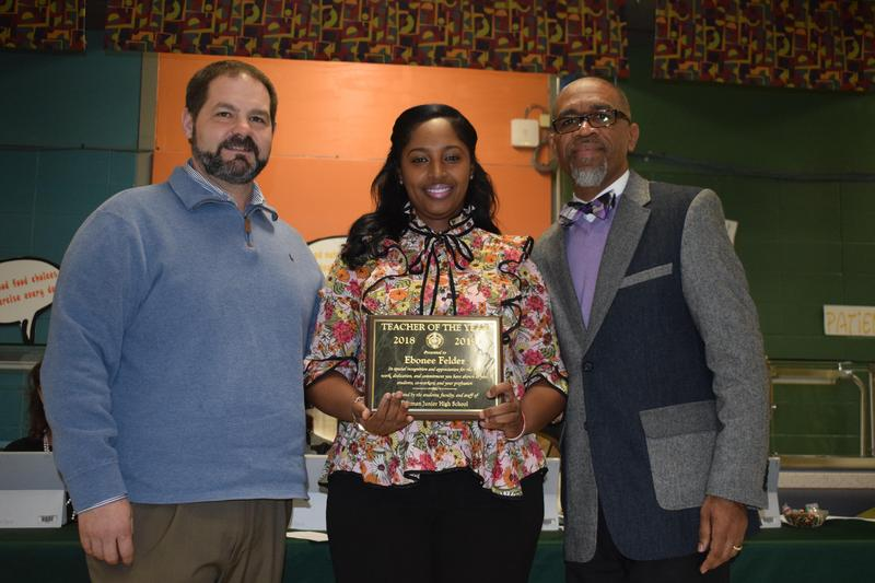 McComb School District Recognizes Ebonee Felder as Summit Elementary Teacher of the Year