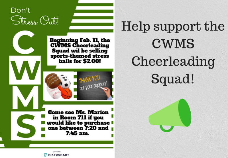 CWMS Cheerleading Fundraiser! Thumbnail Image