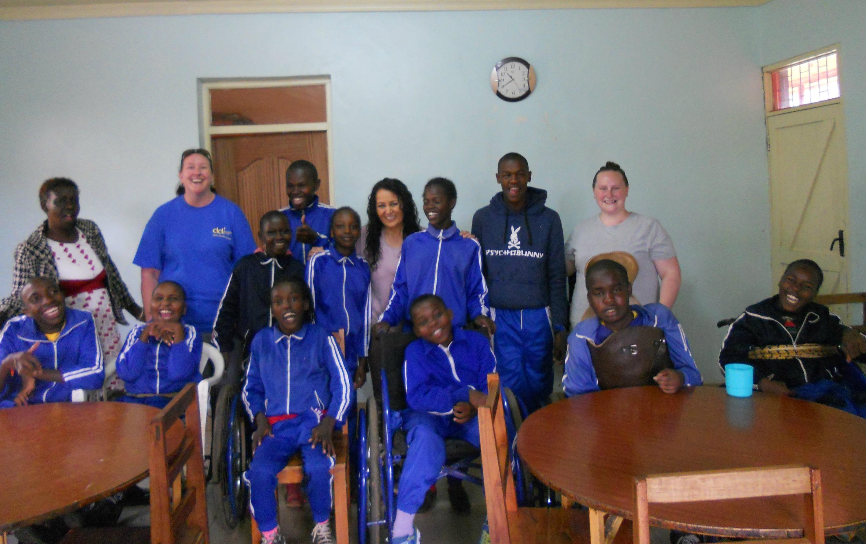 Group of students and staff in Kenya