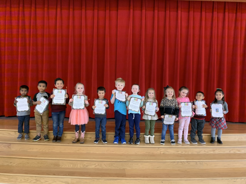 Prekindergarten Character Kids with certificates