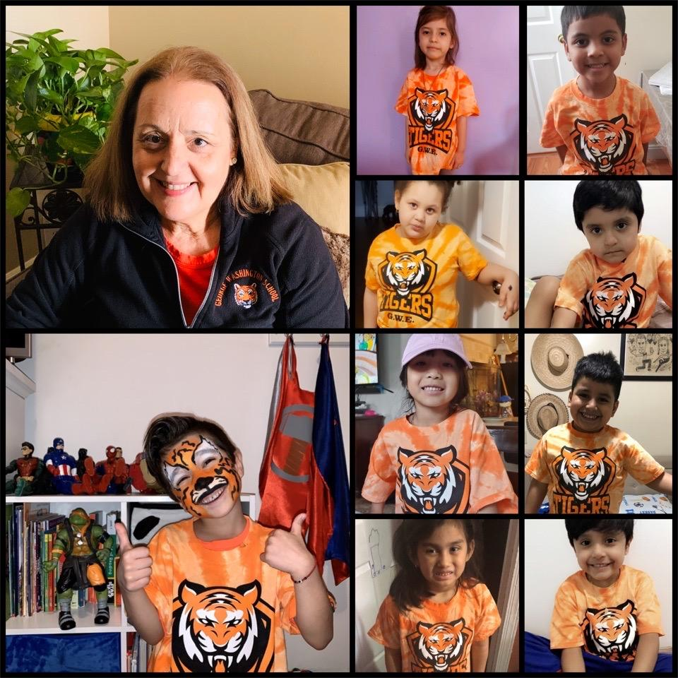 class zoom wearing tiger t-shirts