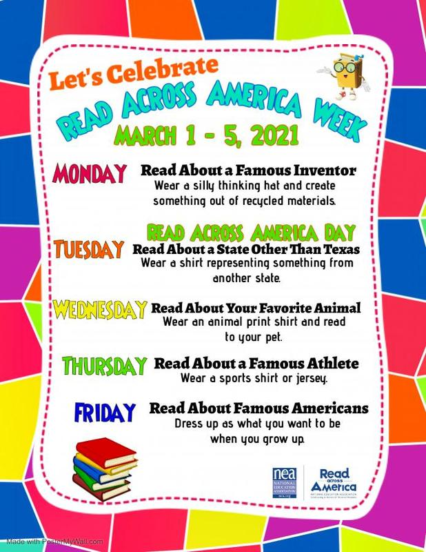 Read Across America Week Flyer