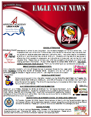 ALA Eagles Nest Newsletter October 2018 Featured Photo