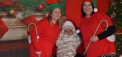 Mrs. Bowen, Mrs. Key, and Santa