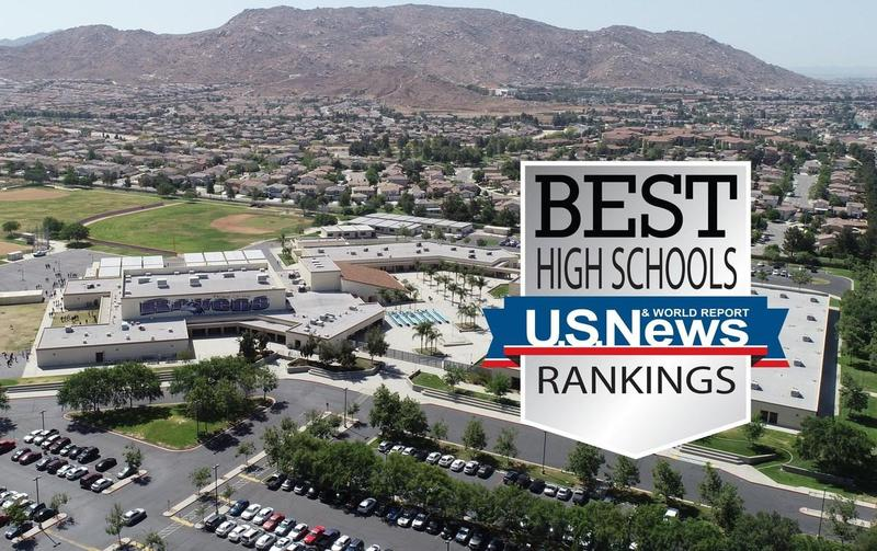 Vista Del Lago High School was among one of the four comprehensive high schools named in the U.S. News and World Report