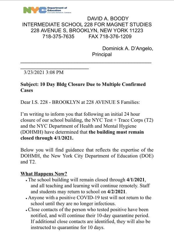 Covid closure letter pt 1