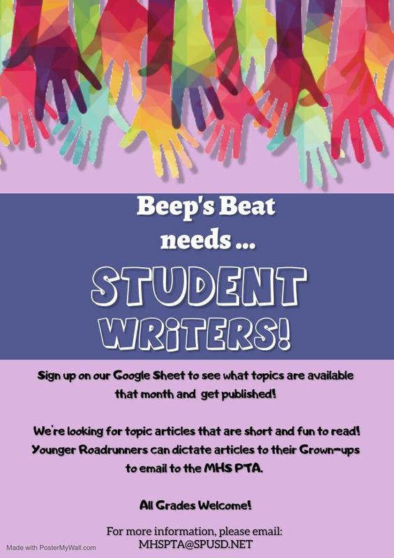 Student Writers Needed Featured Photo