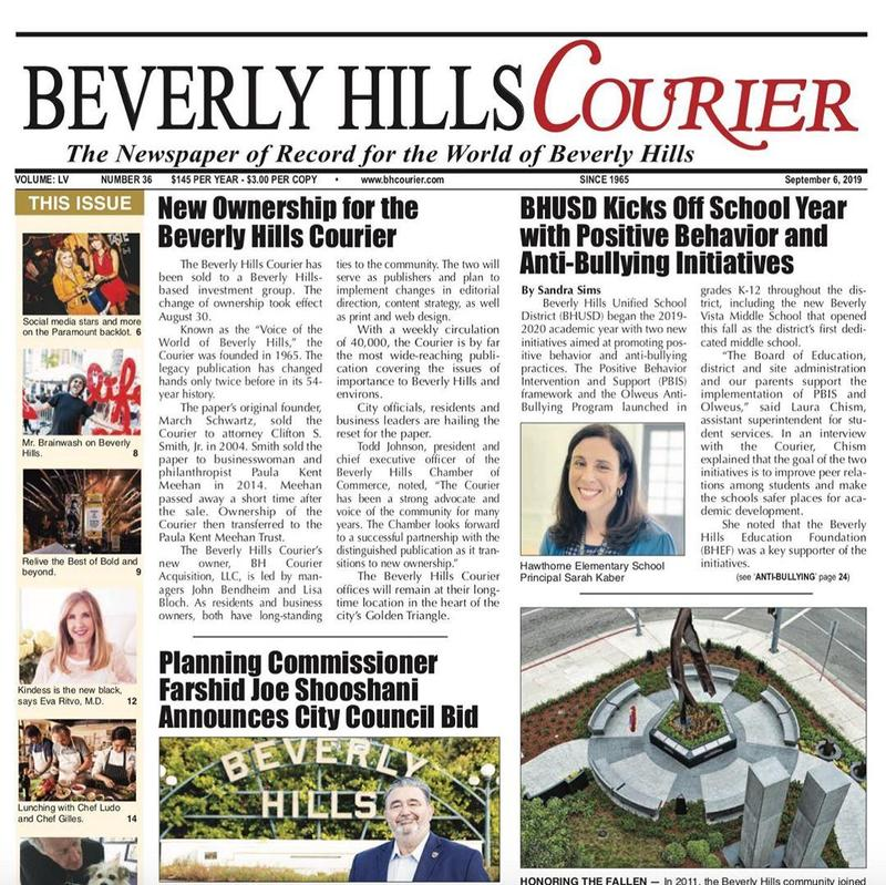 screenshot of bh courier front page with news story