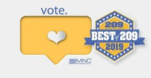 'Vote Best of 209' logo