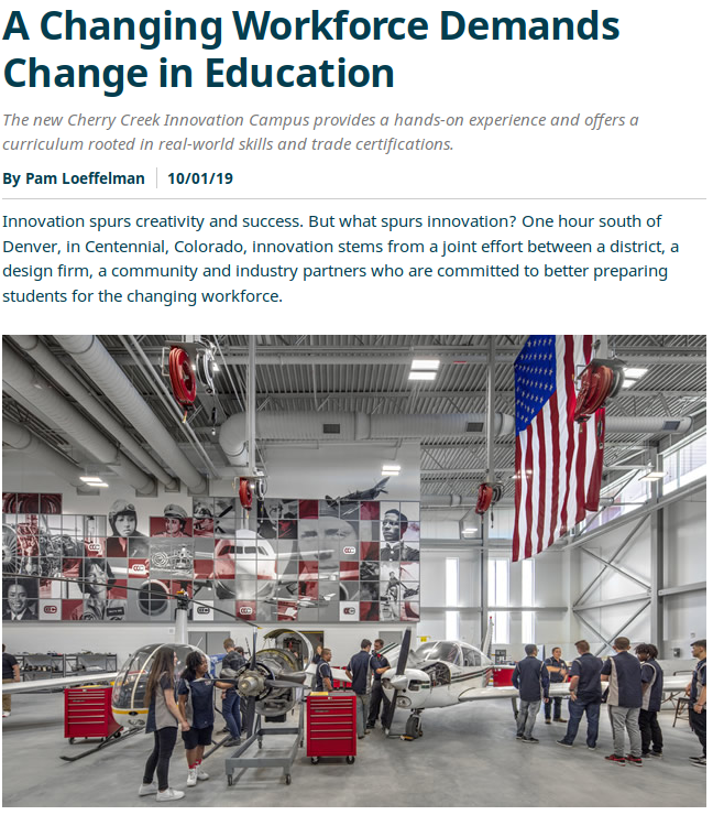 A Changing Workforce Demands Change in Education