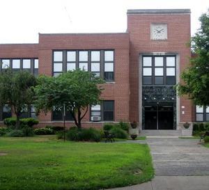 Exterior of front of Westfield High School.