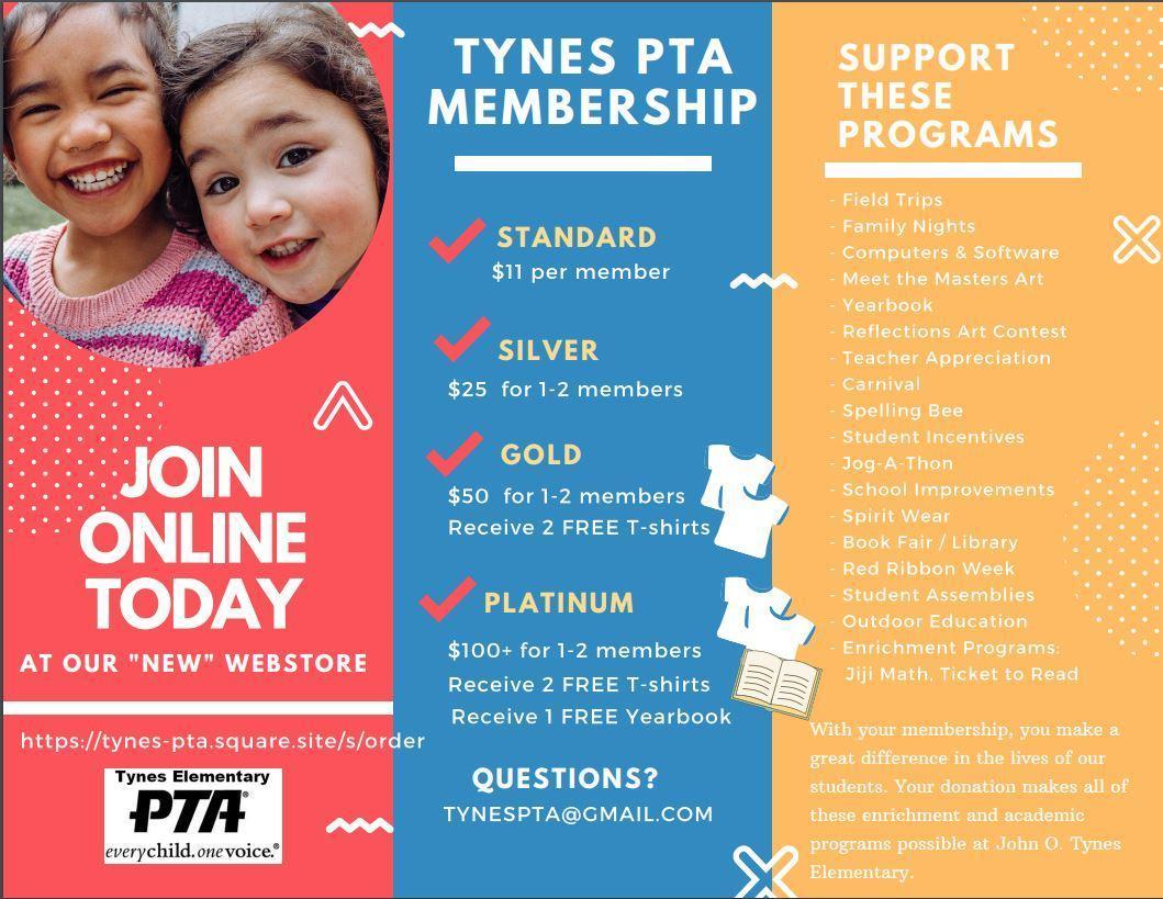 PTA Membership drive info