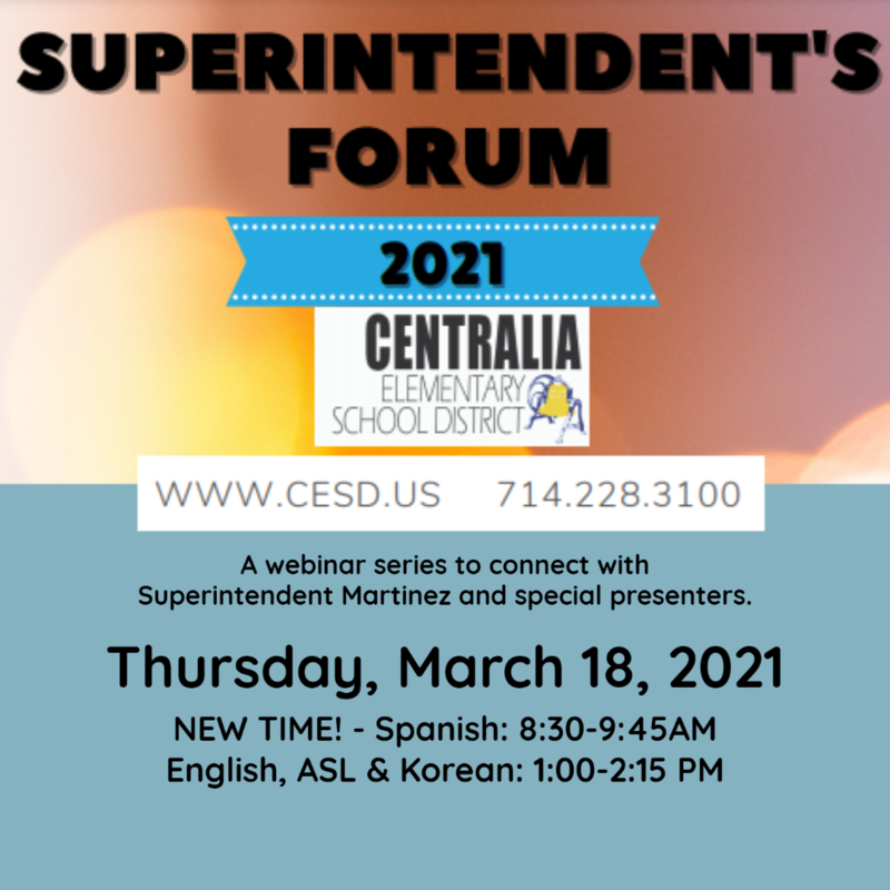 Superintendent's Forum