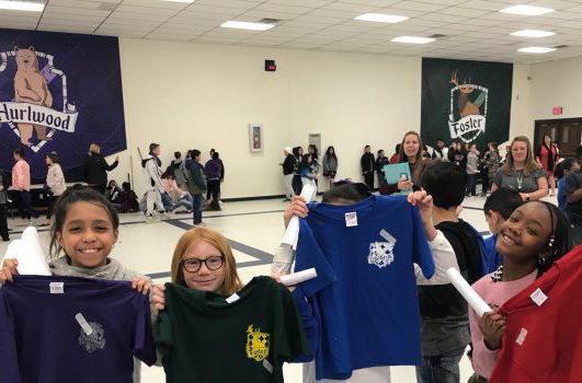 North Ridge students with shirts