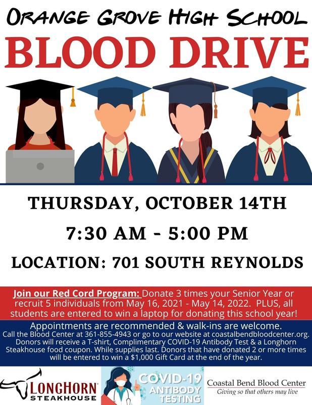 HS Blood Drive--Thursday, October 14 Featured Photo