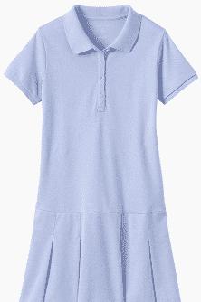 light blue polo dress