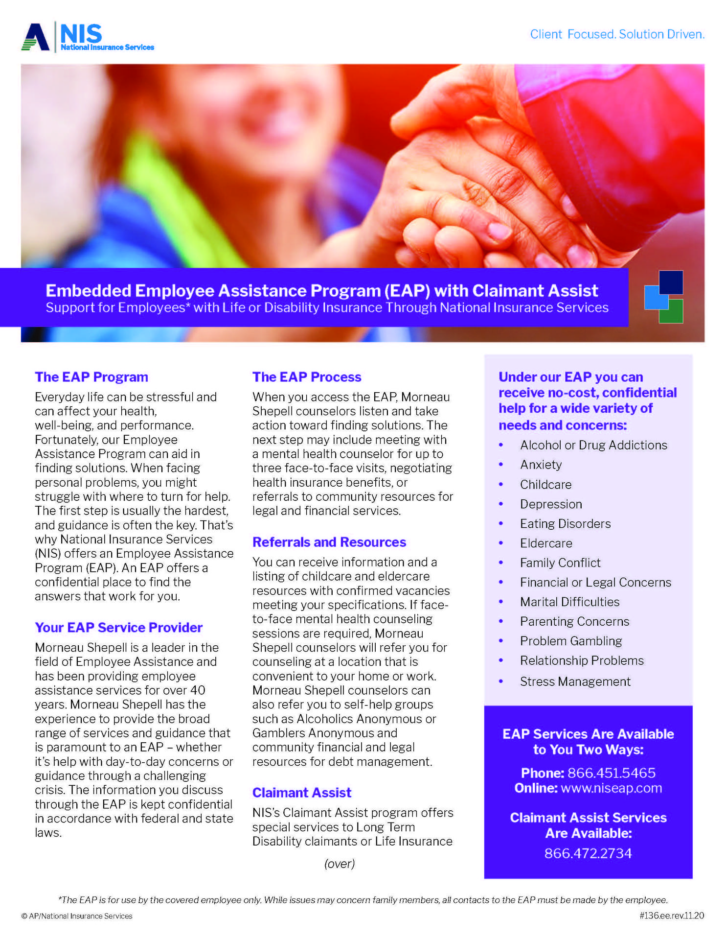 Employee Assistance Brochure Page 1