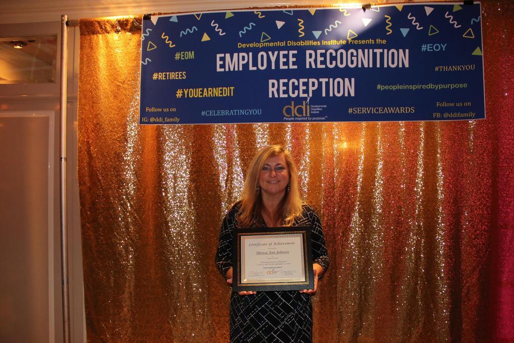 20-Year Service Award recipient