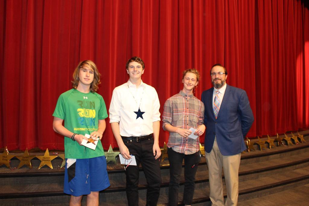 National Merit Scholarship Corporation Commended Scholars Preston Cranford, Drew Latz, John Ziola, Jason Valentine, WHS Principal