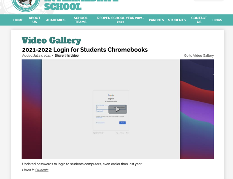 Update on logging into chromebooks! Featured Photo