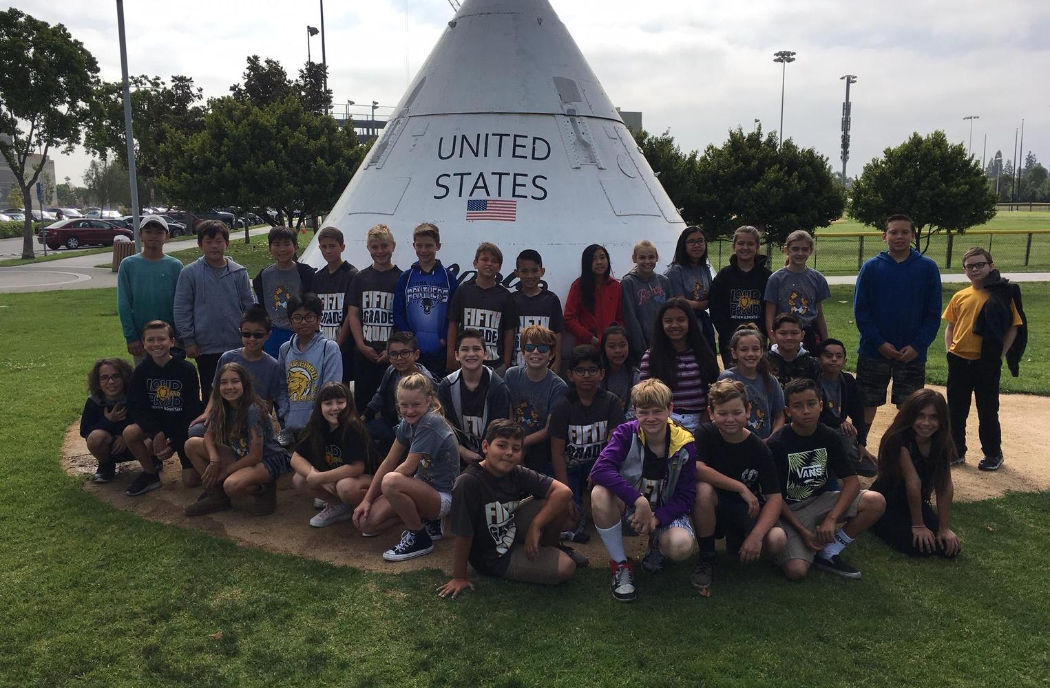 Fifth grade field trip seeing Columbia Space Shuttle in 2019