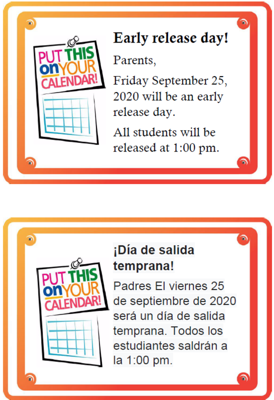 EARLY RELEASE DAY - Friday, September 25th Thumbnail Image