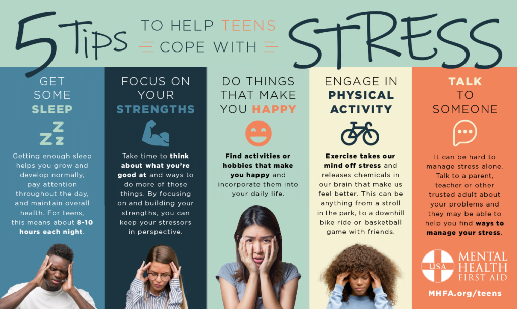 5 Tips to help teens cope with stress