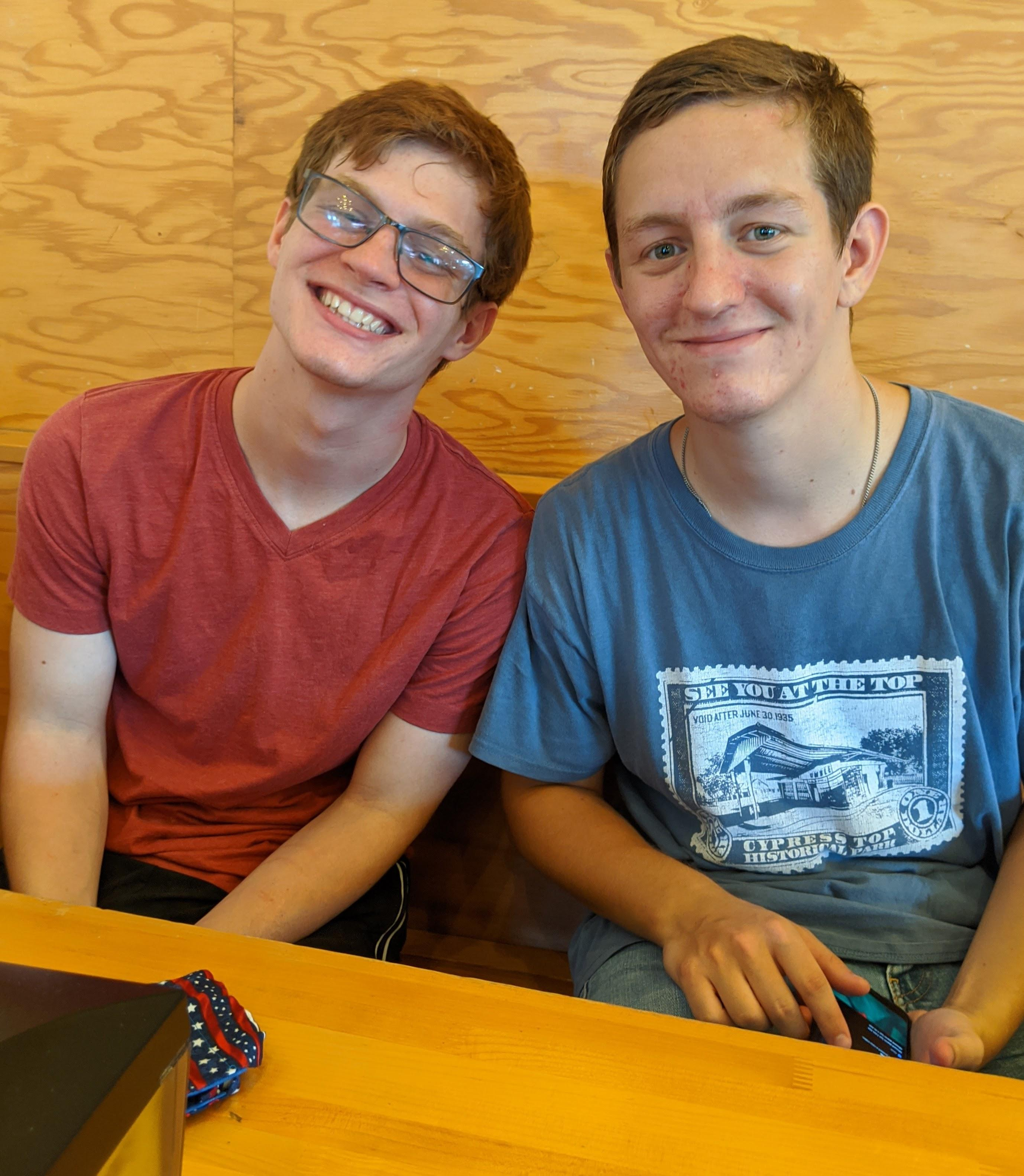Ben and Mark Jr.