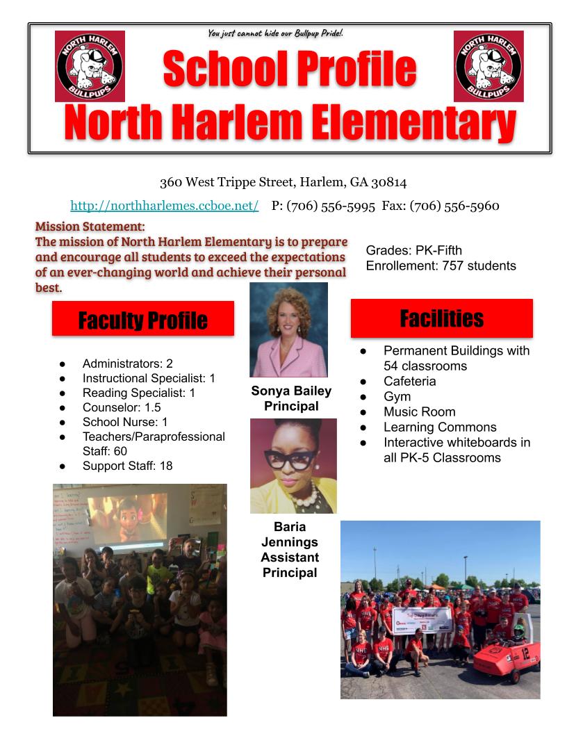 School Profile – About Us – North Harlem Elementary School