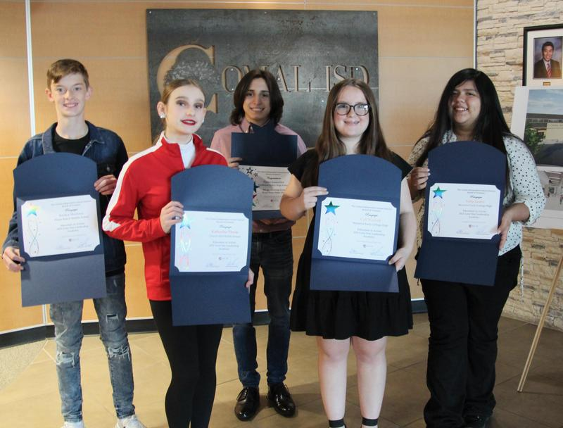 CISD Students honorees Oct. Board Meeting