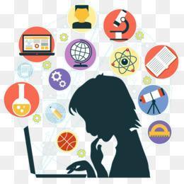 Student looking at computer