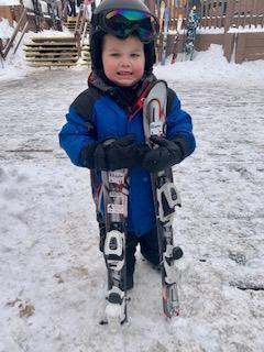 Rhett skiing!