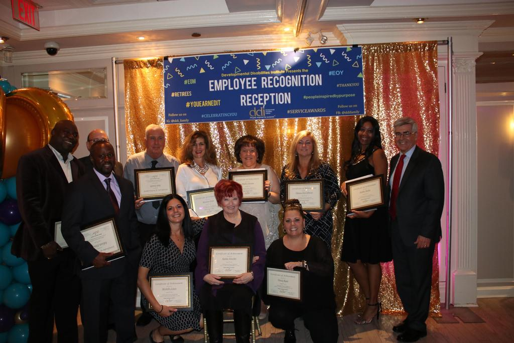 Group photo of 20-Year Service Award recipients