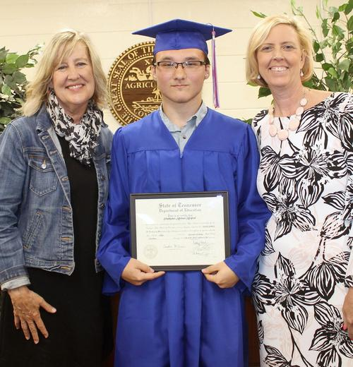 Chris Morford is the second student to graduate from Riverside Academy,