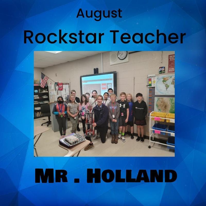 August Rockstar Teacher