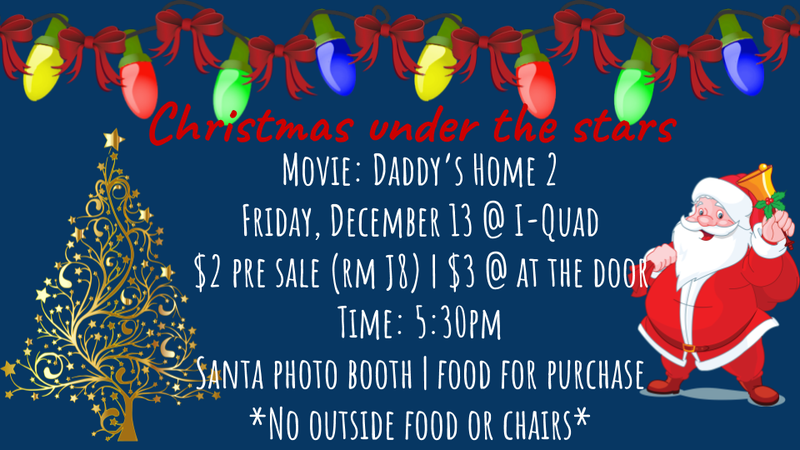 Holiday Movie Night Flyer