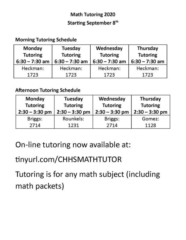 Free Math Tutoring Page 1