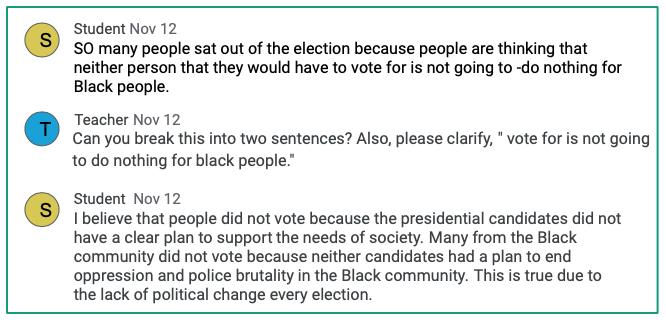 Lack of political changes